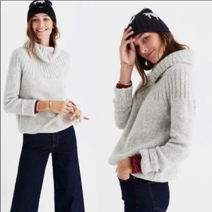 Madewell. Mohair blend waffle stitch boxy pullover